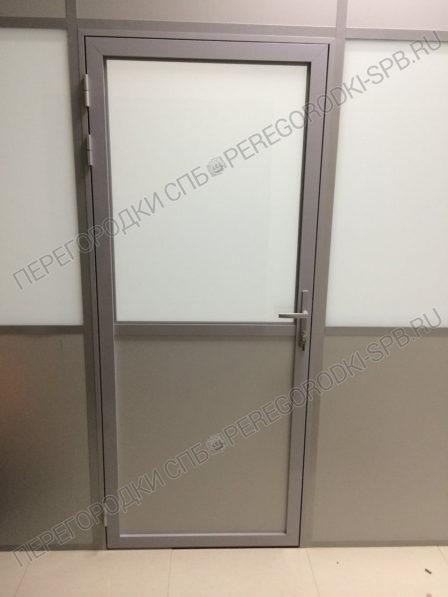 Офисные перегородки с заполнением из плиты МДФ и стекла-2
