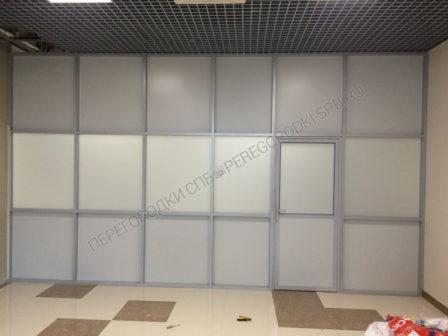 Офисные перегородки с заполнением из плиты МДФ и стекла-3