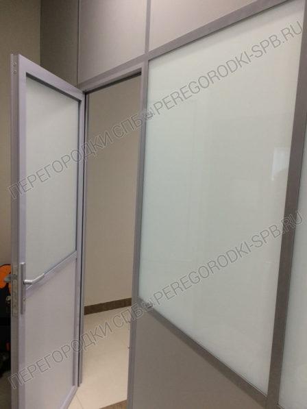 Офисные перегородки с заполнением из плиты МДФ и стекла