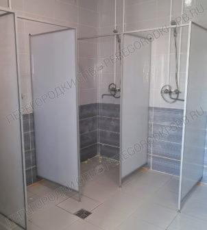 Перегородки в душ с сотовым поликарбонатом 16 мм.