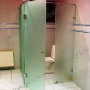 Туалетная кабина из закаленного стекла и пескоструйной обработкой