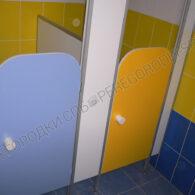 Детские туалетные перегородки люкс с радиусными дверьми