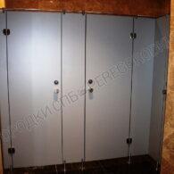 Туалетные перегородки из HPL-пластика